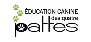 Logo Éducation canine les quatre pattes